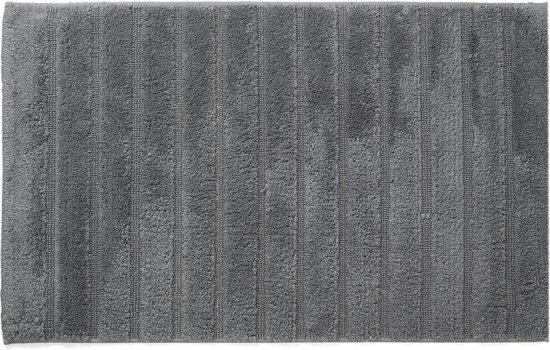California - Badmat met antislip - Anthracite - 70 x 120 cm