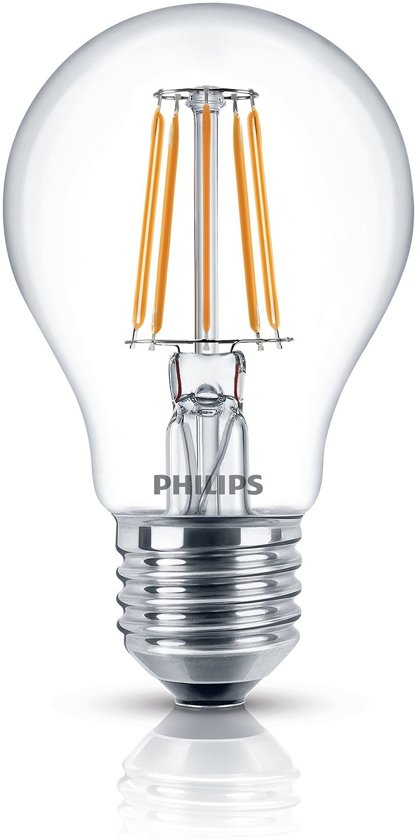 Philips LED lamp E27 4,3W (40W) warmwit 470lm helder