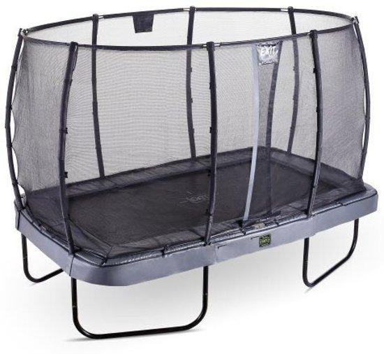 EXIT Elegant Premium trampoline met net, Economy - grijs ø214x366 cm