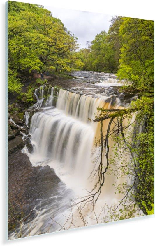 Woest watervallen in de rivieren in het Engelse Nationaal park Brecon Beacons Plexiglas 60x90 cm - Foto print op Glas (Plexiglas wanddecoratie)