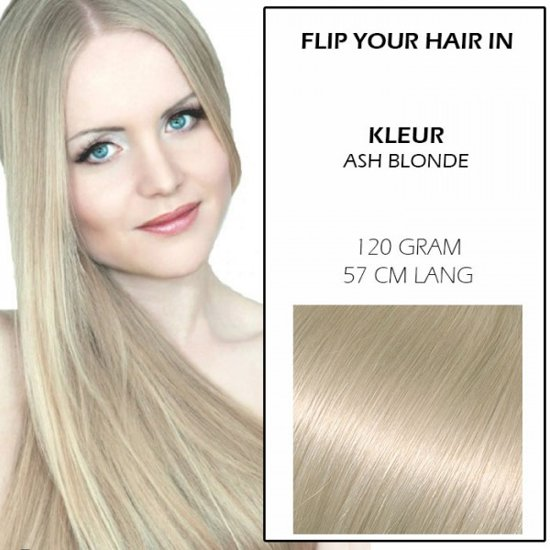 bol   flip your hair in hairextensions ash blonde, glamour your