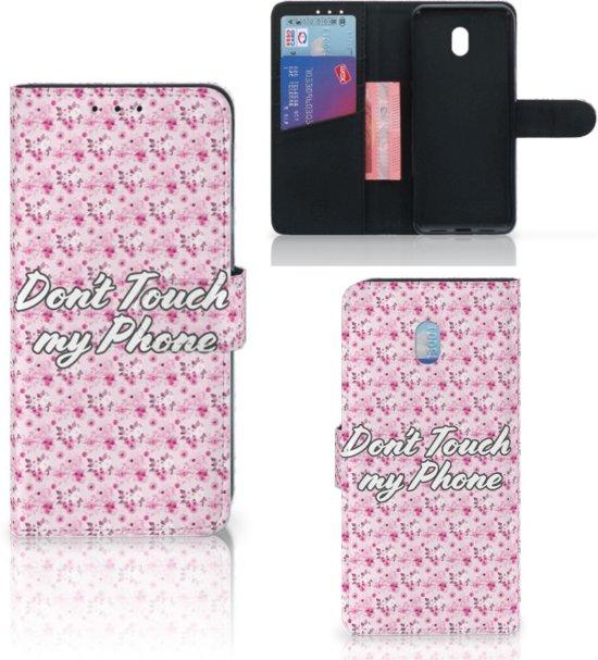 Xiaomi Redmi 8A Portemonnee Hoesje Flowers Pink DTMP