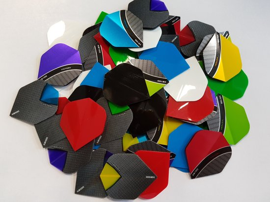 20 sets (60 stuks) Curve/Skylight dartflights - dartflight - dartshaft - multipack