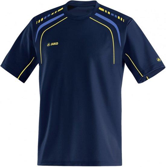 Jako Champion T-Shirt - Dames - Blauw/Geel - Maat XS
