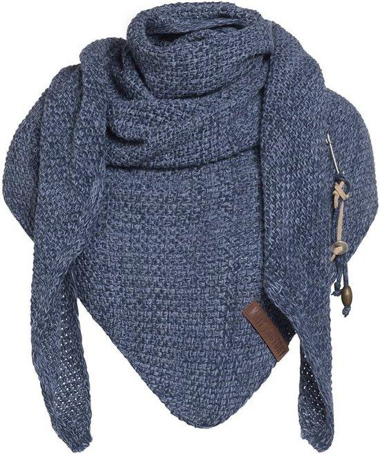 Knit Factory Coco Dames Omslagdoek - Jeans/Indigo