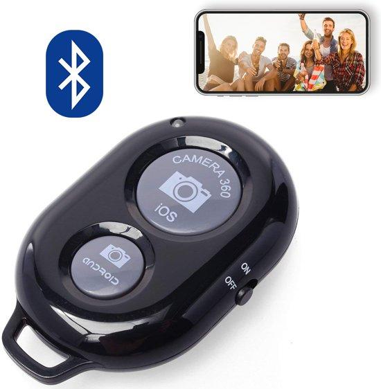 Bluetooth remote shutter afstandsbediening voor smartphone (iPhone en  Android) camera - ZWART