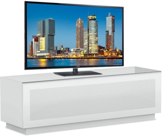 Tv Meubel Mat Glas.Bol Com Elmob Large Tv Meubel Wit Hout Glas