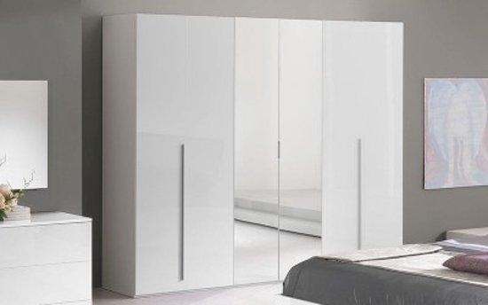 Witte Hoogglans Kledingkast.Bol Com Davidi Design Tarlo Kledingkast Wit Hout Metaal Glas