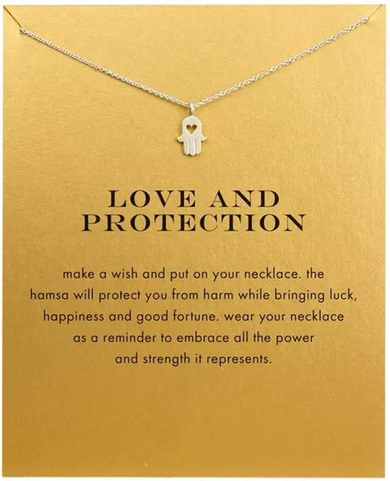 Hamsa Hand Betekenis.Bol Com Cadeau Ketting Love And Protection Hamsa Hand