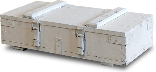 Witte Houten Box.Bol Com Houten Munitie Kist Wit L