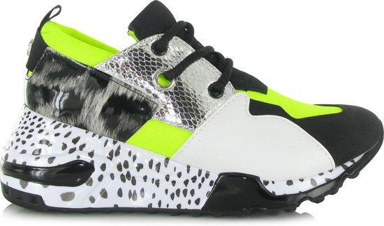 160ef745314 Steve Madden Dames Sneakers Cliff Sneaker - Groen - Maat 37