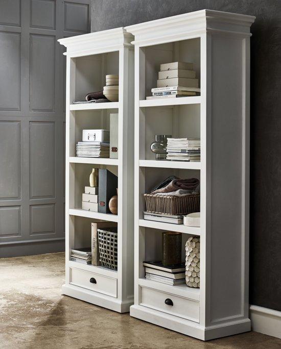 Boekenkast Wit Met Lade.Halifax Boekenkast Met Planken En 1 Lade In Wit