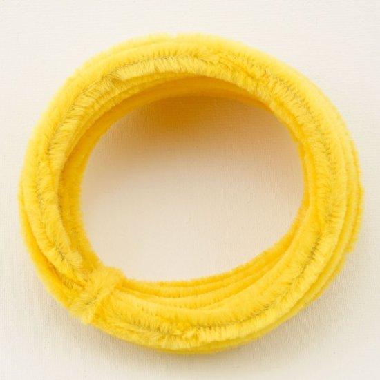 Chenille draad - Chenilledraad 8mm rol à 5m geel - 6 stuk