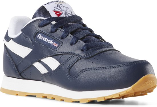 a96417b4d7a Reebok Classic Leather Sneakers Kinderen - Collegiate Navy/White/Gum - Maat  33