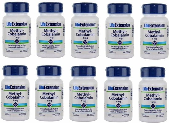 Methylcobalamin, 1 mg 60 Vegetarian Lozenges, 10-pack