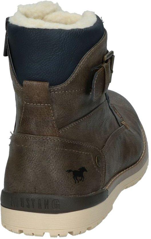 Rits Mustang Met veter Bruine Boots Donker 0O8wPnk
