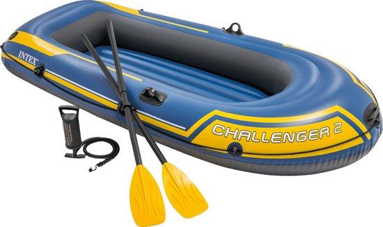 Intex Challenger 2 Set Boot - opblaasboot - mét peddels en pomp