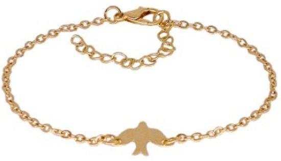 Lovelymusthaves Minimalistische Armband Vogel - Dames - Goudkleurig