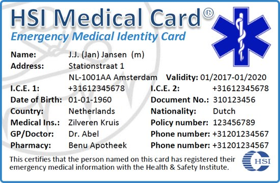 Internationaal Card Handicapkaart Medical Medicijnpaspoort Emergency Handicappas Identitycard Reispaspoort International Hsi HandicapAmo Medisch Rjq4AL53