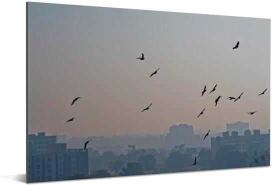 De miljoenenstad Ahmedabad in India Aluminium 180x120 cm - Foto print op Aluminium (metaal wanddecoratie) XXL / Groot formaat!