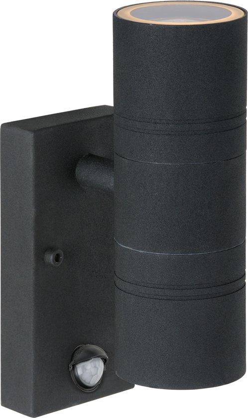 Buitenlamp Met Sensor Zwart.Lucide Arne Buitenverlichting Wandlicht 2 Lichts Ir Sensor Zwart
