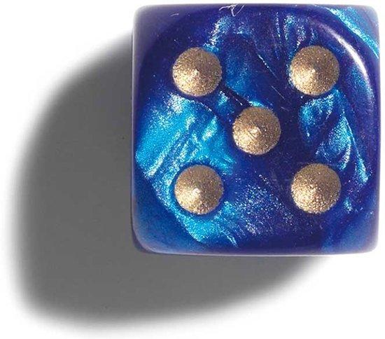 Afbeelding van het spel Philos parelmoer blauwe dobbelstenen 12mm