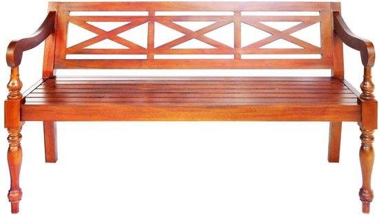 vidaXL Bank Batavia 136 cm massief mahoniehout donkerbruin