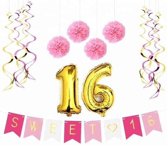 Sweet 16 versiering / feestpakket Valentinaa