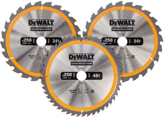 DeWALT DT1963 Cirkelzaagbladen Set 250mm (24T/24T48T 250 x 30mm)