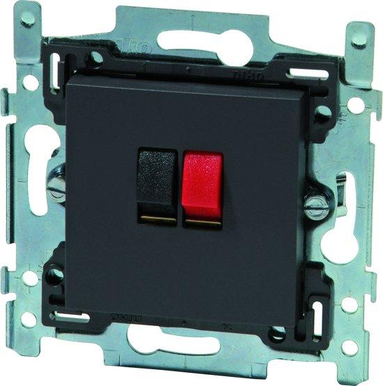 NIKO Intense Antracite inbouw luidspreker stopcontact - enkelvoudig