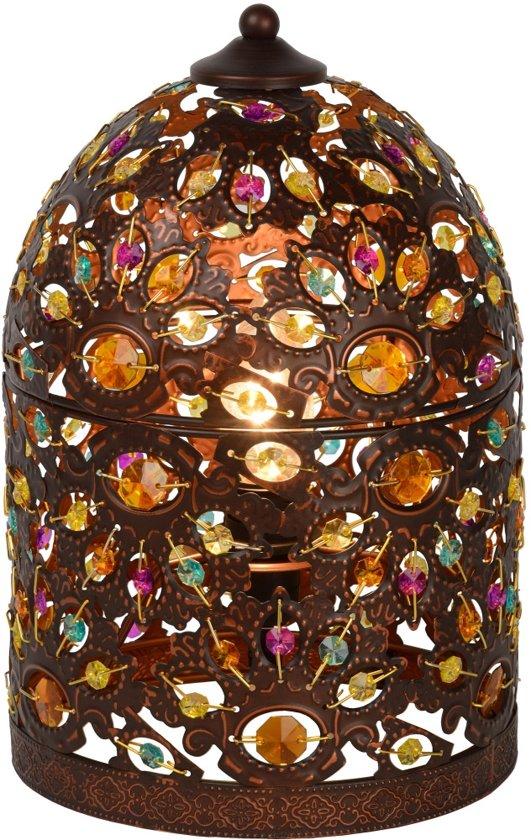 Lucide BYRSA - Tafellamp - Ø 19 cm - Roest bruin