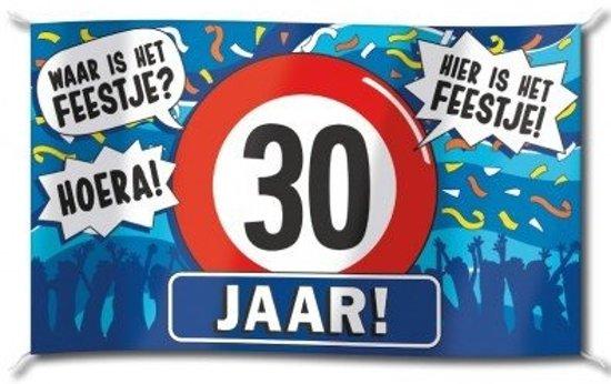 5f6d03e7eaccdb bol.com | Paperdreams - Vlag - Hoera, 30 jaar - 150x90cm