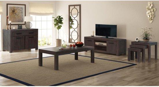 bol.com | vidaXL Woonkamer meubelset 6-delig rook-look massief ...