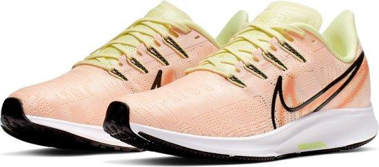 Nike Air Zoom Pegasus 36 Prm Dames Sportschoenen - Crimson  Tint/Black-Luminous Green-Orange Trance-White-Electric Green - Maat 41