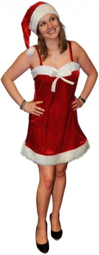 a51ddcb43ae009 Fluwelen kerstjurkje voor dames