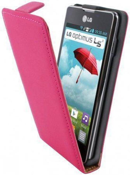 Mobiparts Premium Flip Case LG Optimus L5 II Pink in Seilles