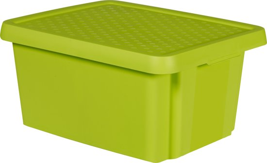 Curver Essentials Opbergbox - Met Deksel - 20 l - Groen