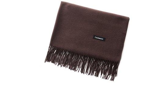 Sjaal dames - Cashmere - Shawl - omslagdoek - stola - pashmina - bruin