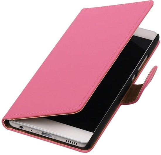 BestCases.nl Samsung Galaxy Core Plus G3502 Effen booktype hoesje Roze