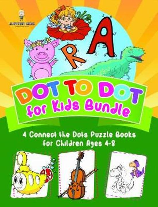 Dot to Dot for Kids Bundle - 4 Connect the Dots Puzzle Books for Children Ages 4-8