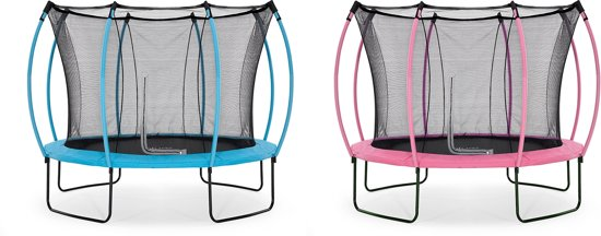 Plum Colours Springsafe - Trampoline - 10ft - omkeerbaar - Roze/Turquoise