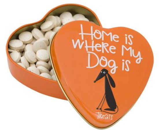Home is where my dog is - hondensnack - cadeautje - hartje