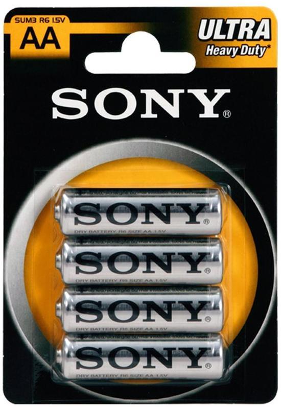 Sony AA Ultra Heavy Duty Alkaline Batterijen