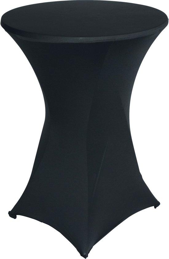 Kleed Voor Statafel.Statafelrok Luxe Statafel Tafelrok Statafelhoes Stretch Zwart