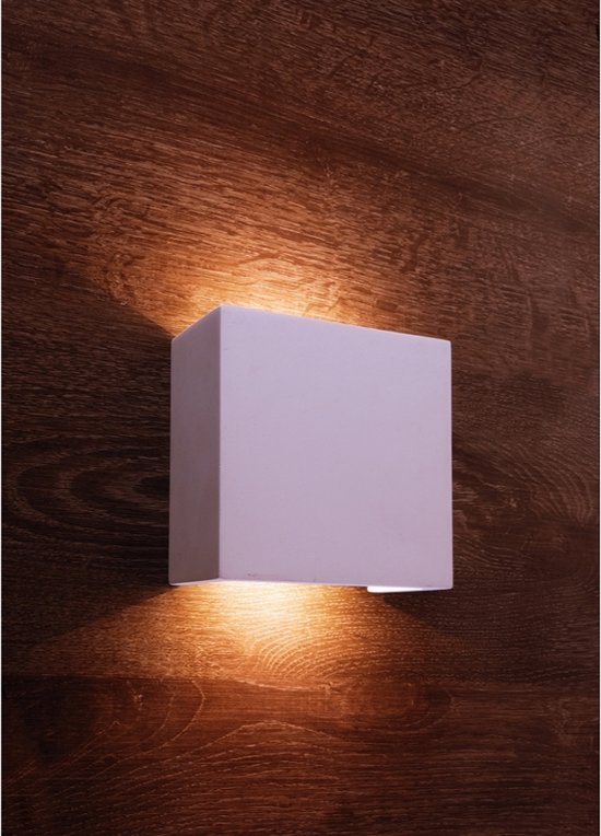 bol.com | Zoomoi Quinta - Wandlamp woonkamer - slaapkamer - Wit - LED