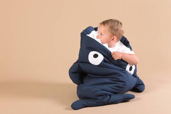 Baby Bites haai slaapzak en voetenzak - Marine blauw
