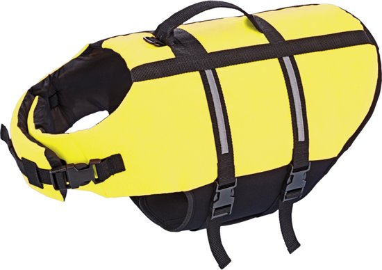 Nobby hondenzwemvest met handlus - Geel - Maat S
