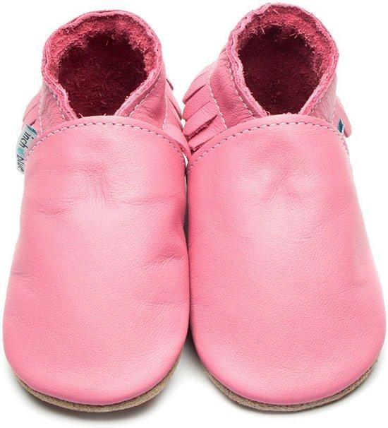 Inch Blue babyslofjes moccasin rose pink maat M (12 cm)