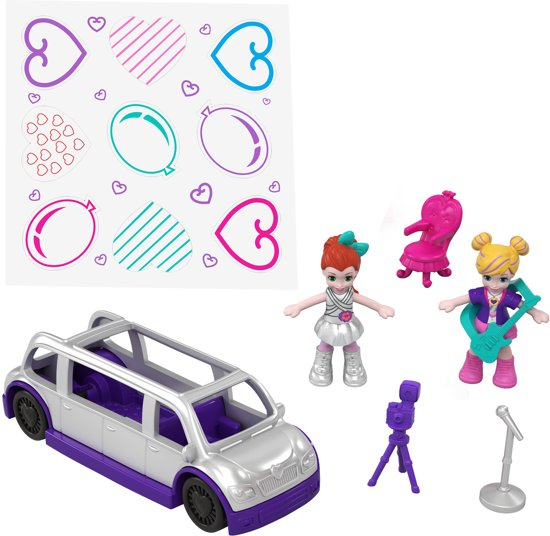 Polly Pocket Geheime Plekken Dansfeest Set - Speelfigurenset