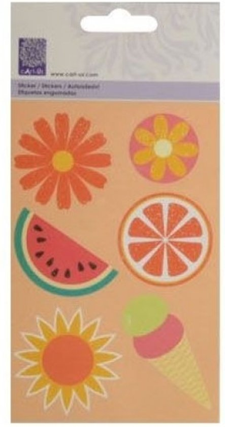Sticker - cArt-Us stickers x2 happy sunshine - 1 stuk